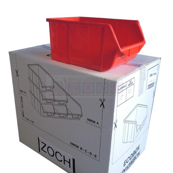 Ecobox 114 rot Lagerkästen - Komplettverkauf im Karton