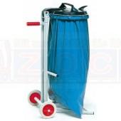 Abfallsammler mit 2 Standfüßen und 2 Vollgummirädern