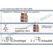 Palettenregal 20G6-10F1 Länge: 2010 mm mit 1000kg je Palettenplatz