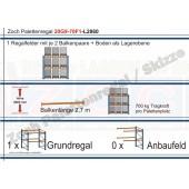 Palettenregal 20G9-70F1 Länge: 2860 mm mit 700kg je Palettenplatz