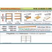 Zoch Weitspannregale W3G 20/40-20F2 Länge 4070 mm