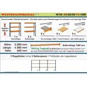 Weitspannregal W3G 20/60-20F3 Länge 6080 mm