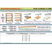 Zoch Weitspannregal W4G 25/80-20F2 Länge 4070 mm